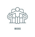 boss line icon linear concept outline vector image vector image