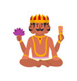 brahma indian many faced god great god of vector image vector image