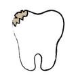 broken tooth icon vector image