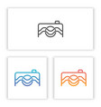 camera abstract logo templates for your company vector image