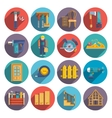 Carpentry icons flat vector image vector image