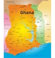 color map ghana vector image vector image