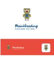 creative robots logo design flat color logo place vector image vector image