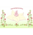decorative floral hearts EPS10 vector image vector image