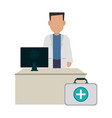 doctor office concept vector image