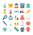 fashion and clothes colored icons 3 vector image vector image
