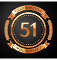 Fifty one years anniversary celebration with vector image vector image
