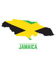 flag and map of jamaica vector image vector image