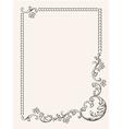 frame ornament vintage vector image vector image