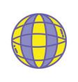 global digital network social connection vector image vector image