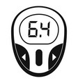 glucose meter icon simple style vector image vector image