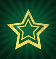 Gold glitter star vector image vector image
