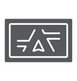 gps navigator glyph icon electronic and device vector image vector image