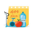 healthy listyle to diet plan vector image vector image