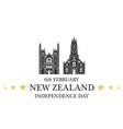 Independence Day New Zealand vector image vector image