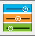 infographic sliders vector image vector image