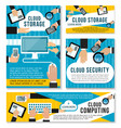 internet cloud storage technology posters vector image vector image