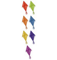 isolated set colorful kites vector image