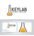 key lab logo design vector image vector image