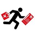 Late Passenger Flat Icon vector image