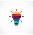 Light bulb logo template Modern abstract vector image