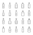 Lines icon set - bottle and beverage vector image