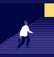 man climbing steps success in businessman career vector image vector image