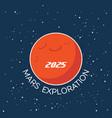 mars exploration cartoon poster vector image vector image
