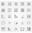 Math icons set vector image