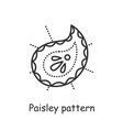 paisley pattern line icon editable vector image vector image