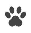 paw print icon isolated on white background dog vector image