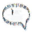 people crowd comment speech bubble vector image vector image