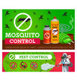 pest control mosquito disinsection banners vector image vector image