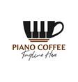 piano music coffee inspiration logo vector image vector image