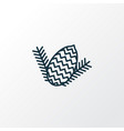 pine nut icon line symbol premium quality vector image