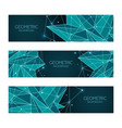 polygonal abstract futuristic dark blue template vector image