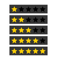 rating stars symbols set on white background vector image