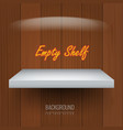 realistic empty shelf for exhibit your objects vector image vector image