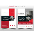 red circle abstract annual report brochure vector image vector image