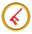 Red paintball gun icon vector image vector image