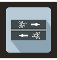 Road for cyclists icon flat style vector image vector image