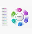 rotating circle chart template with 6 options vector image vector image