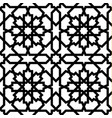 seamless arabic geometric ornament in black and wh vector image