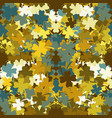 seamless pattern clover leaves on a brown vector image vector image