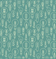 seamless pattern made of linear lightbulbs vector image vector image