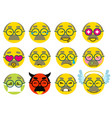set smile grandfather senior icon love joy sick vector image