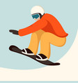snowboarder flat style vector image vector image