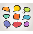 Speech bubble frames vector image vector image