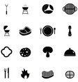 steak icon set vector image