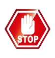 stop signal isolated icon design vector image